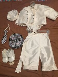Silk Baby Boy Suit & Leather shoes