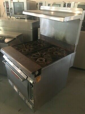 Vulcan-7845-a H.d. Commercial Natural Gas 4 Burners S.s. Stoverange Woven