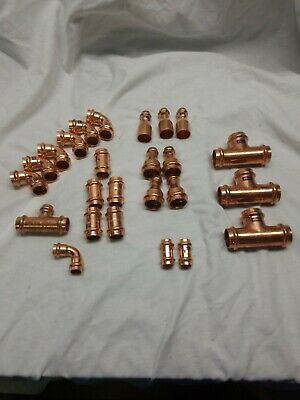 Lot Of 25 Viega Propress Copper Fittings Teeselbowscouplings New