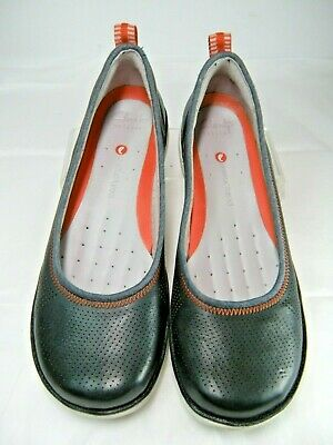 Clarks Artisan Womens Shoes Size 7 M Navy Leather Slip on #E