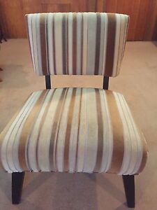 Cream and brown chair