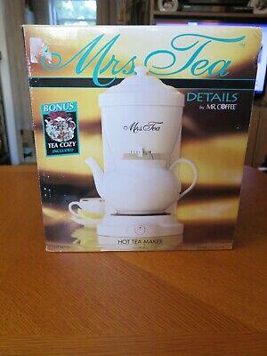 Mrs Tea by Mr. Coffee 6 Cup Electric Hot Tea Maker Automatic Drip Brand New NIB
