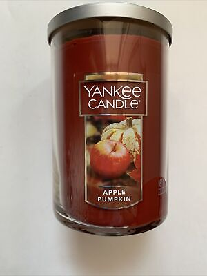 Yankee Candle APPLE PUMPKIN 22 oz 2-WICK LARGE TUMBLER FAVORITE FALL SCENT HTF