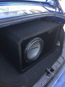 "12"" MTX audio sub and 450w amp"
