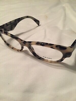 Authentic Woman's PRADA Eyeglasses VPR 13Q .520 18 101 140 Cream Tortoise Shell