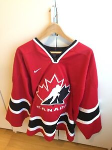 NEW MENS LARGE TEAM CANADA ICE HOCKEY JERSEY NIKE RED WHITE