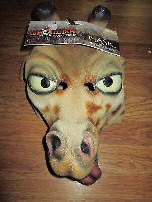 GHOULISH PRODUCTIONS GIRAFFE MASK Halloween Costume NWT -