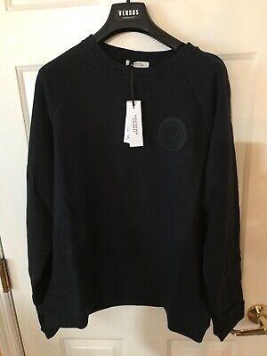 Versace Collection Men's Sweatshirt Medusa Logo Navy Blue - Size M