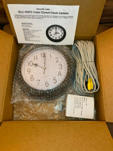 Security Labs SLC-1037C Covert Clock Camera with Pinhole Lens Color CCD Lot-BX01