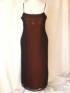 NEW-Dorothy-Perkins-Black-Full-Length-Semi-Sheer-2-Layer-Evening-Dress-Size-18