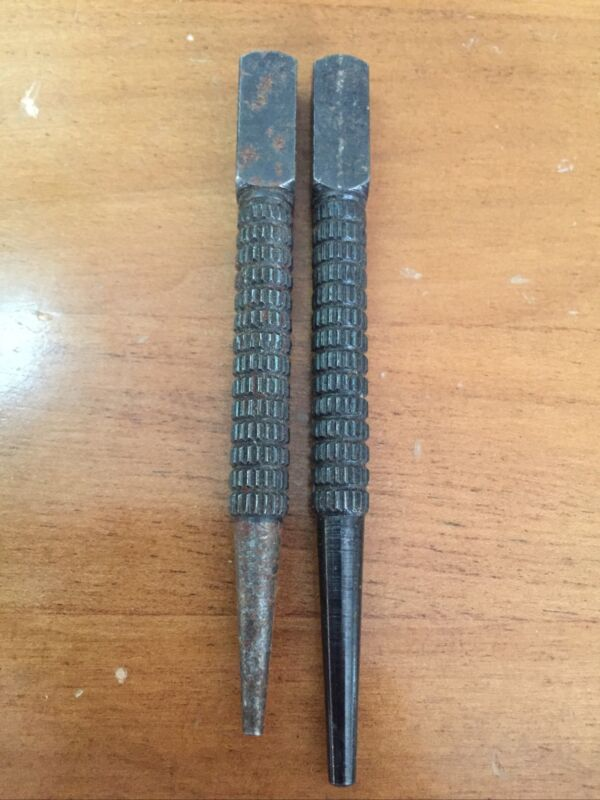 "Set Of 2 Vintage Stanley Tools No.11 3/4  Nail Set Punch 1/32"" & 3/32"""
