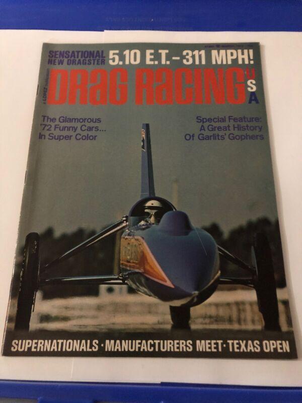March 1972 Drag Racing Magazine