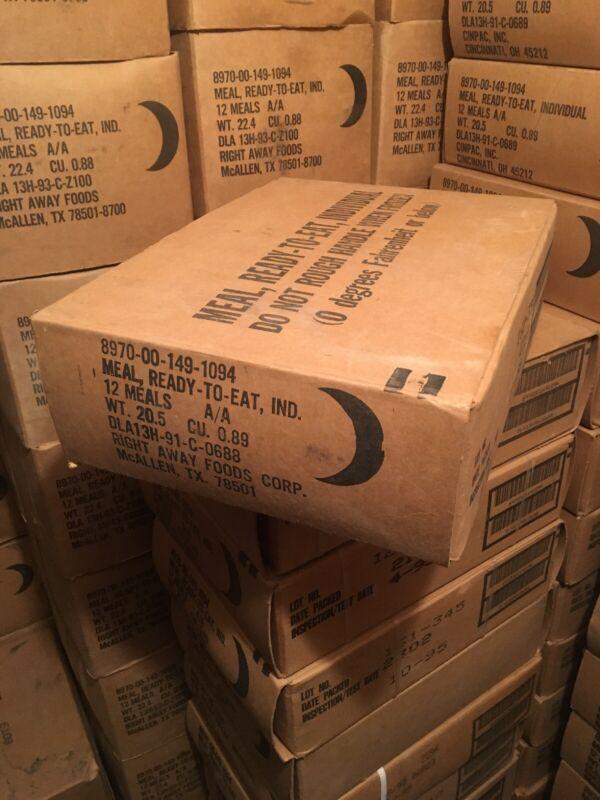 Vintage Brown Bag MRE 1-12  RIGHT AWAY FOODS 1992-1994 Cases Sealed