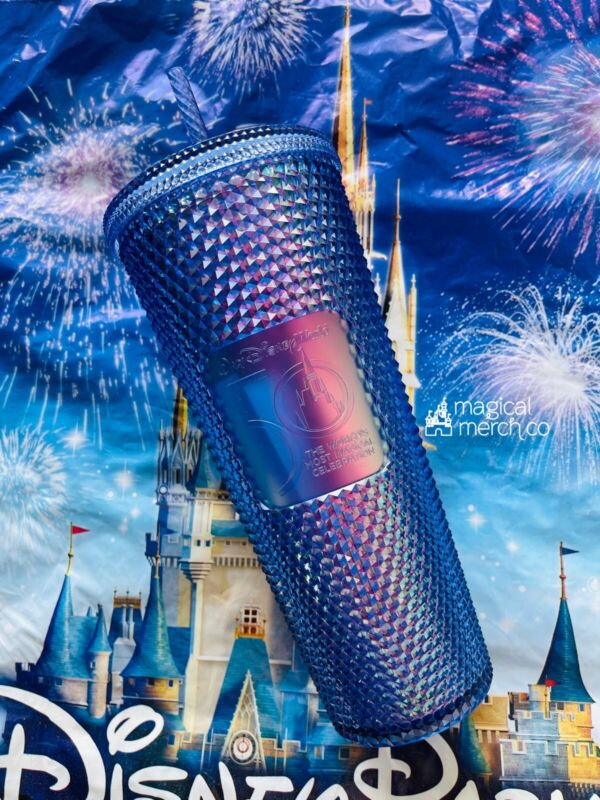 2021 Walt Disney World 50th Celebration Starbucks Studded Tumbler Cup