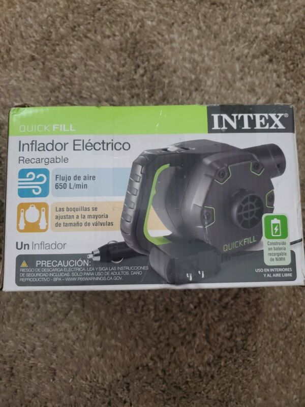 Intex 66641E 120 V Quick Fill Cordless Rechargeable Inflatable Air Bed Pump