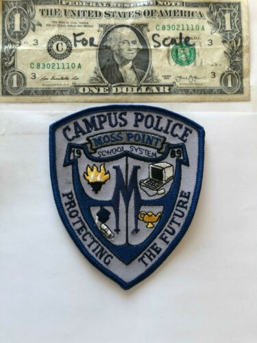 Very Rare Moss Point Mississippi Campus Police Patch Un-sewn great condition