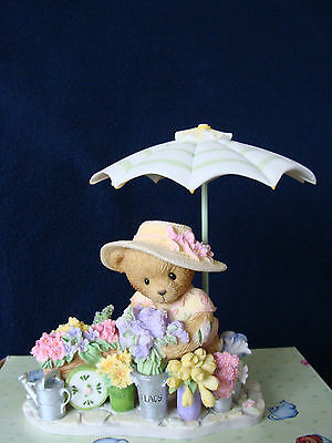 Cherished Teddies - Carly - Flower Cart/Umbrella - 2006 Club Exclusive - CT0061