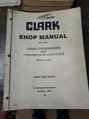 Clark Michigan 475c Shop Manual Turbo Transmission Controls No.3261