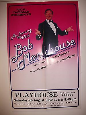 1980's Bob Monkhouse theatre poster