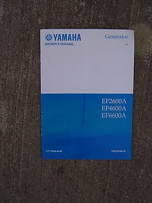 2001 Yamaha Generator Ef2600a Ef4600a Ef6600a Owner Manual More In Our Store S