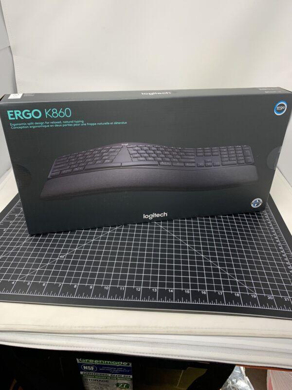 Logitech - ERGO K860 Ergonomic Split Bluetooth or USB Keyboard - Black