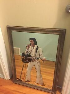 Beautiful Elvis in mirrored frame