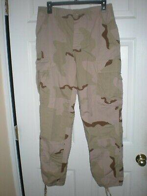 Vintage Paratrooper Cargo Pants in Desert Camo BDUs Small Short