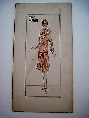 Original 1920's Gorgeous Pattern Art for The Vogue w/Beautiful Colored Fashion*