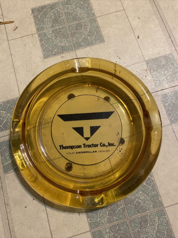 Vintage Thompson Tractor Co Inc Your Caterpillar Dealer Ashtray