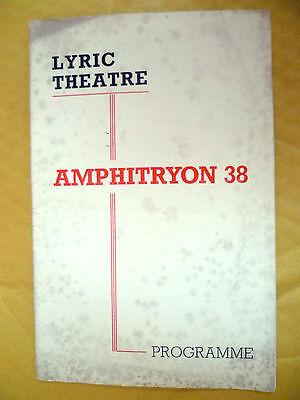 LYRIC THEATRE PROGRAMME- L Fontanne & A Lunt in AMPHITRYON 38 by S N Behrman
