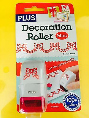 Plus Decoration Roller Mini Stamp ~ RED RIBBON Birthday Holiday Fun  ~ FREE SHIP Free Red Ribbon Ornament