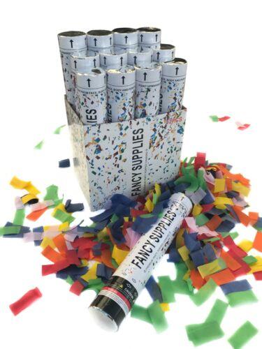12 Piece 12-inch Multi-Color Confetti Cannon party popper Twist & Pop cloud