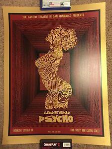 Castro Theatre Alfred Hitchcock Psycho David O'Daniel Movie Print Poster Mondo