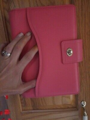 Franklin Covey Classic Salmon Pink Plannerbinder  Excellent Condition 1 Rs