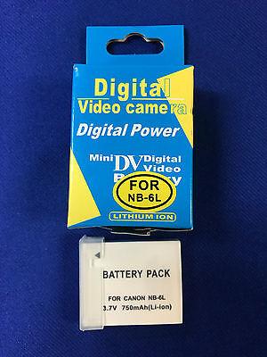 Battery Lilon 3.7v750mAh(Cell of Japan)*CE for Canon NB-6L DIGITAL CAMERAS.
