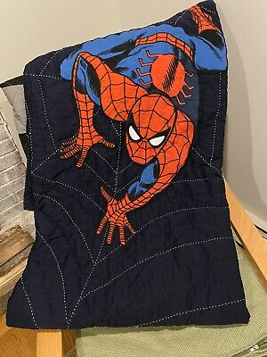Pottery Barn Kids Twin Spider-Man Quilt Spiderman