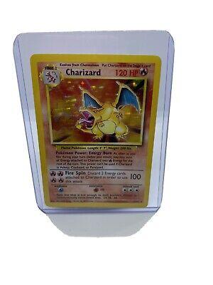 Charizard 4/102 Base Set Unlimited 1999 Holo Rare Pokémon Card - HP PSA 6?7?