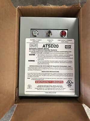Dual-lite Atsd20 20 Amp Auxilary Transfer Switch