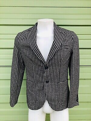 NWT ZARA MAN TEXTURED WEAVE PRINTED JACKET long sleeve size USA 42 $119