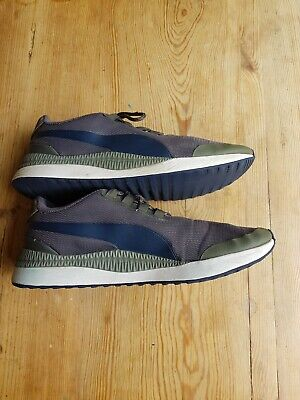 Puma Mens Grey & Navy Blue Trainers Uk Size 9