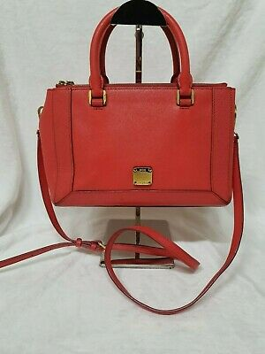 AUTHENTIC MCM Leather Two Way Shoulder Bag