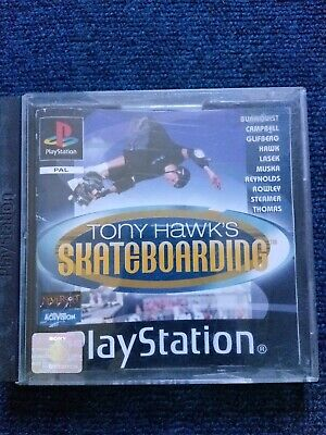 Tony Hawk's Skateboarding Sony Playstation 1 Video Game With Manual Black Label