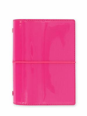 Filofax - Pocket Domino Patent Hot Pink - High Gloss Organiser - Elastic Closure