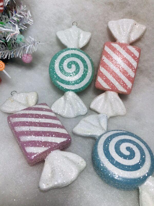 Pastel Candy Christmas Tree Ornaments, Sugar (fake) Coated