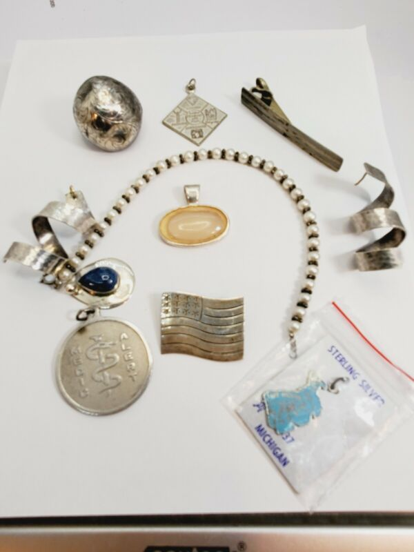 Vintage Sterling Silver Lot  - Scrap or Wear - 58 Grams (85a)