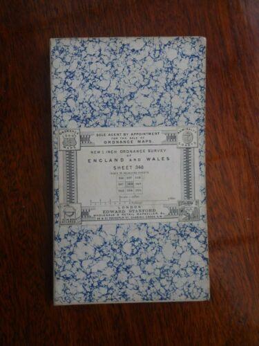 1 INCH ORDNANCE SURVEY SHEET 348 BY EDWARD STANFORD MAP PLYMOUTH DEVON 1890