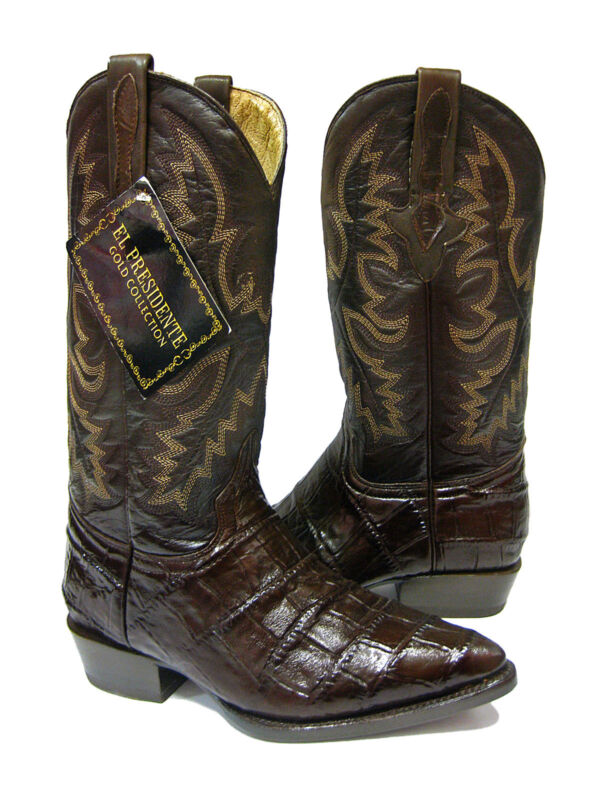 Mens, Brown, J, Toe, Crocodile, Alligator, Western, Ranch, Classic, Pro, Cowboy, Boots