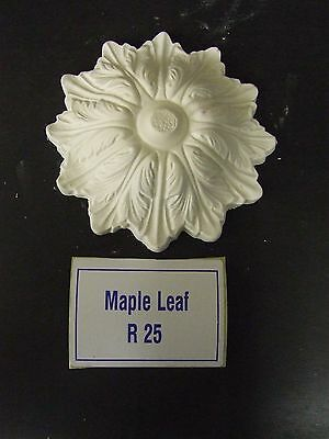 "Small Plaster Ceiling Rose 'Maple Leaf' Design 6"" (153mm) diameter"