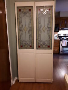 Stain glass doors
