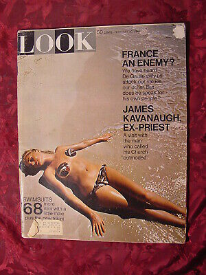 LOOK February 20 1968 JEAN-CLAUDE KILLY ARETHA FRANKLIN for sale  Shipping to India